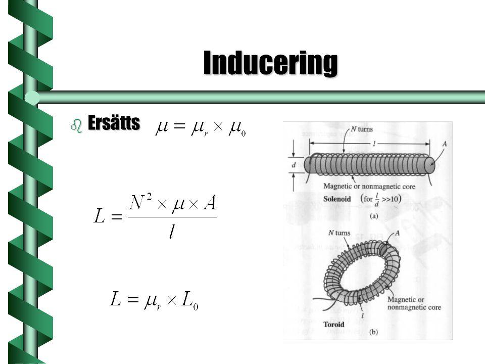 Inducering Ersätts