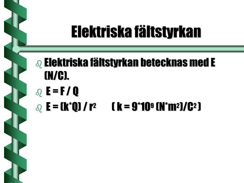 Elektriska fältstyrkan