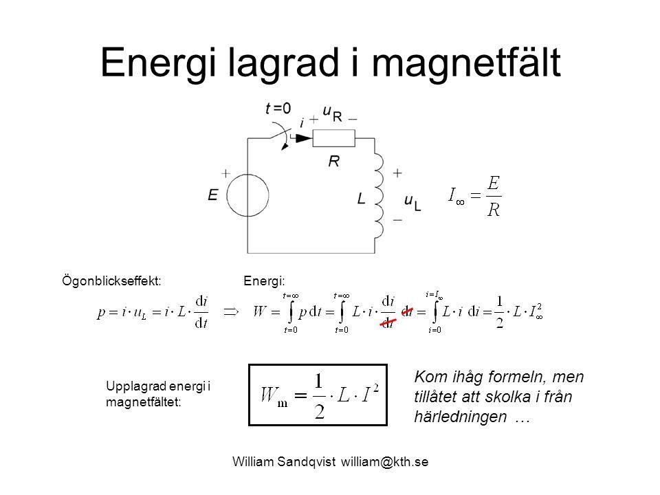 Energi lagrad i magnetfält