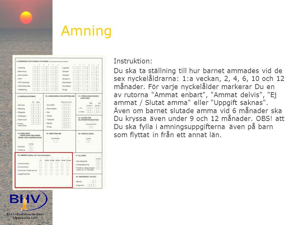 Amning Instruktion: