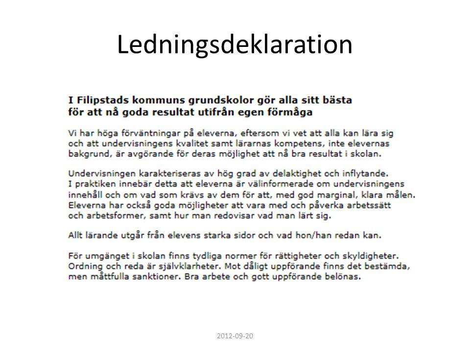 Ledningsdeklaration 2012-09-20