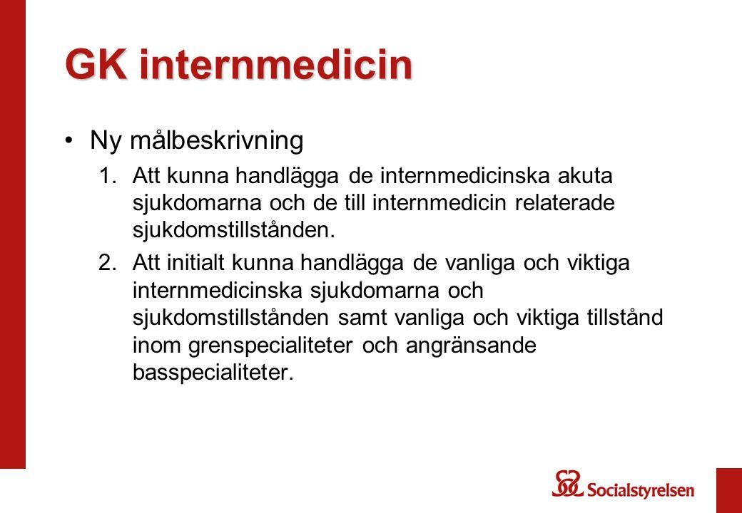 GK internmedicin Ny målbeskrivning