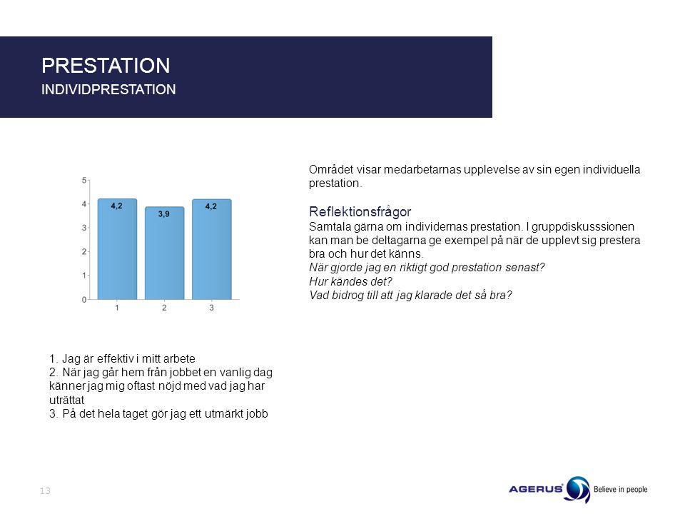 PRESTATION INDIVIDPRESTATION Reflektionsfrågor