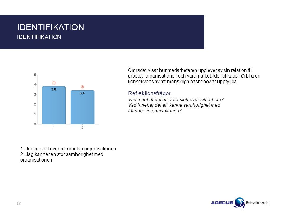 IDENTIFIKATION IDENTIFIKATION Reflektionsfrågor