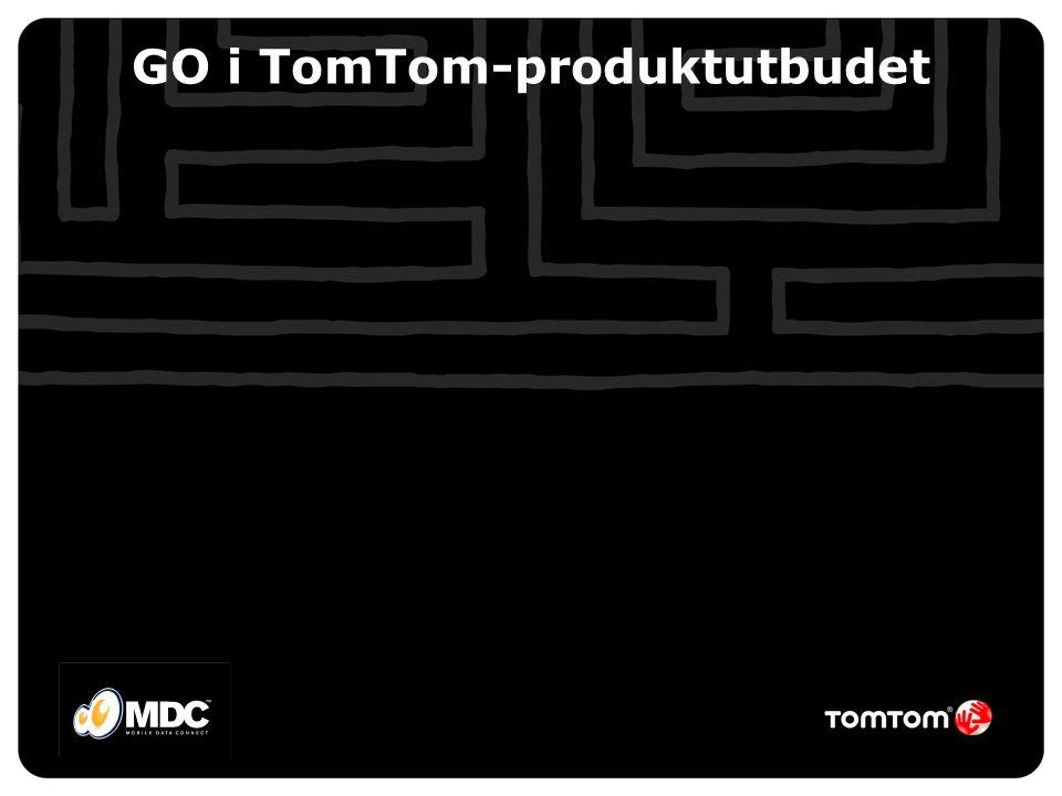 GO i TomTom-produktutbudet