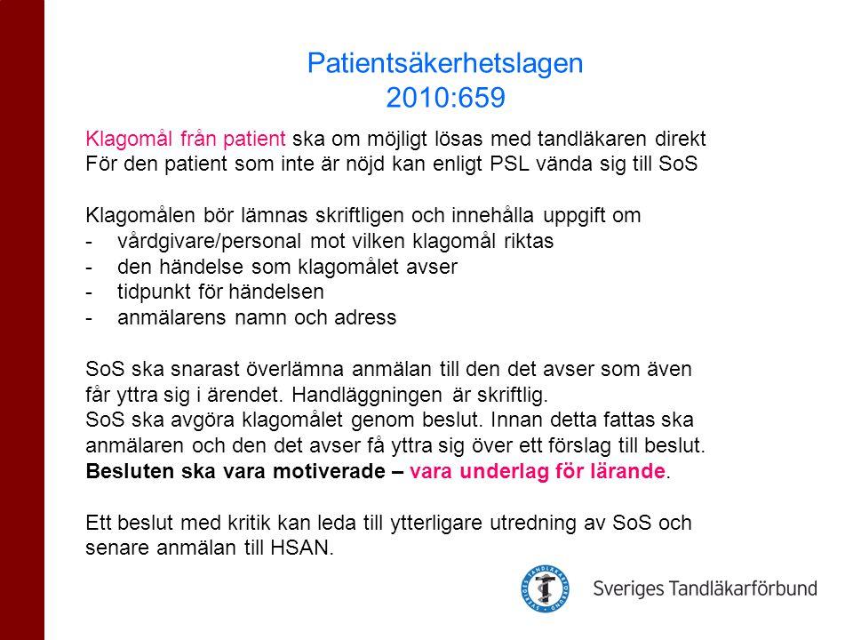 Patientsäkerhetslagen 2010:659