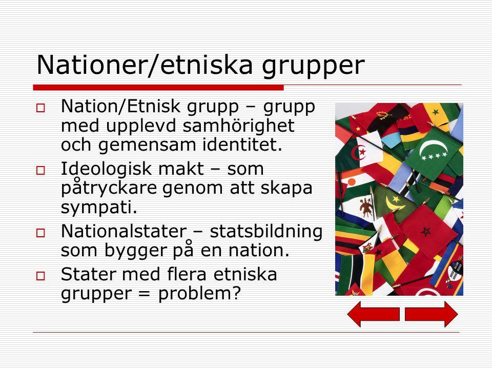 Nationer/etniska grupper