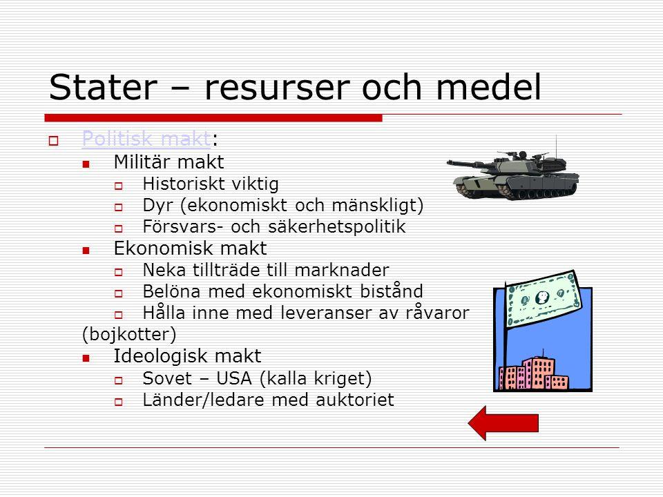 Stater – resurser och medel