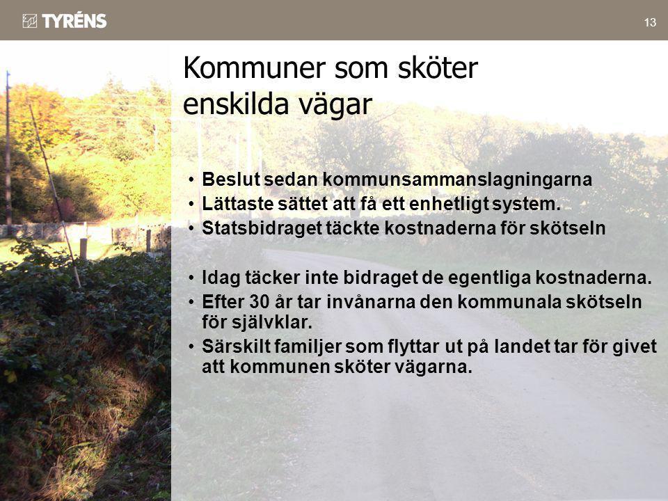 Kommuner som sköter enskilda vägar