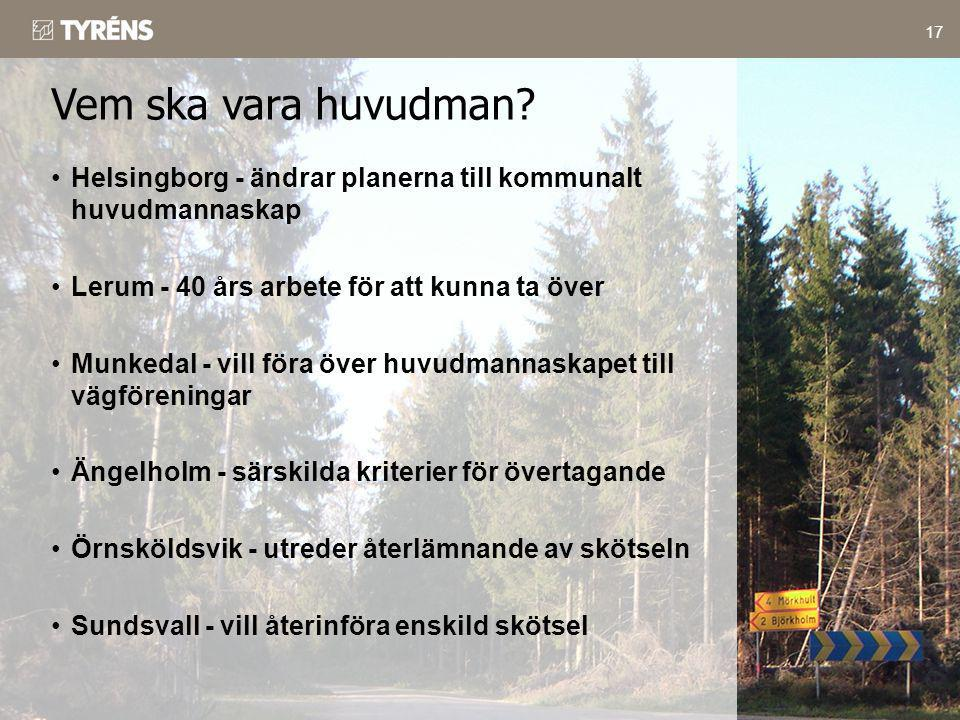 Vem ska vara huvudman Helsingborg - ändrar planerna till kommunalt huvudmannaskap. Lerum - 40 års arbete för att kunna ta över.