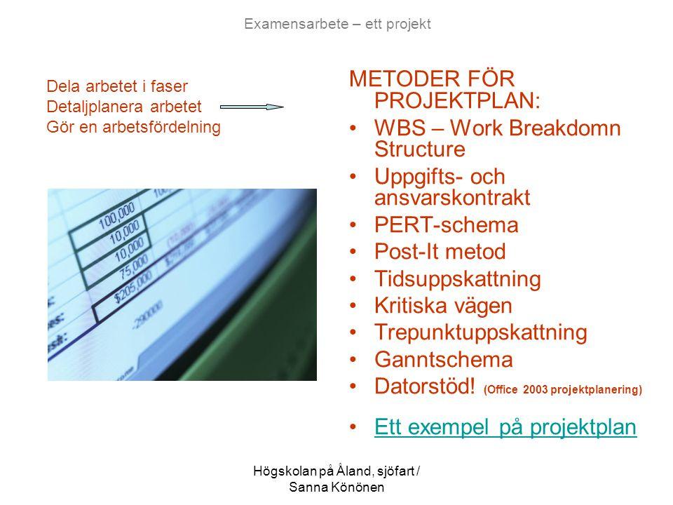 Examensarbete – ett projekt