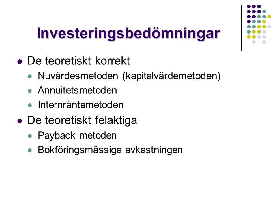 Investeringsbedömningar
