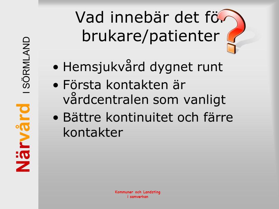 Vad innebär det för brukare/patienter