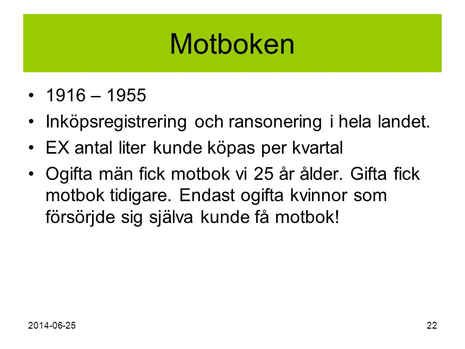 Motboken 1916 – 1955 Inköpsregistrering och ransonering i hela landet.