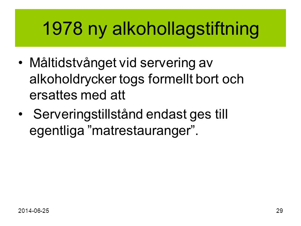 1978 ny alkohollagstiftning