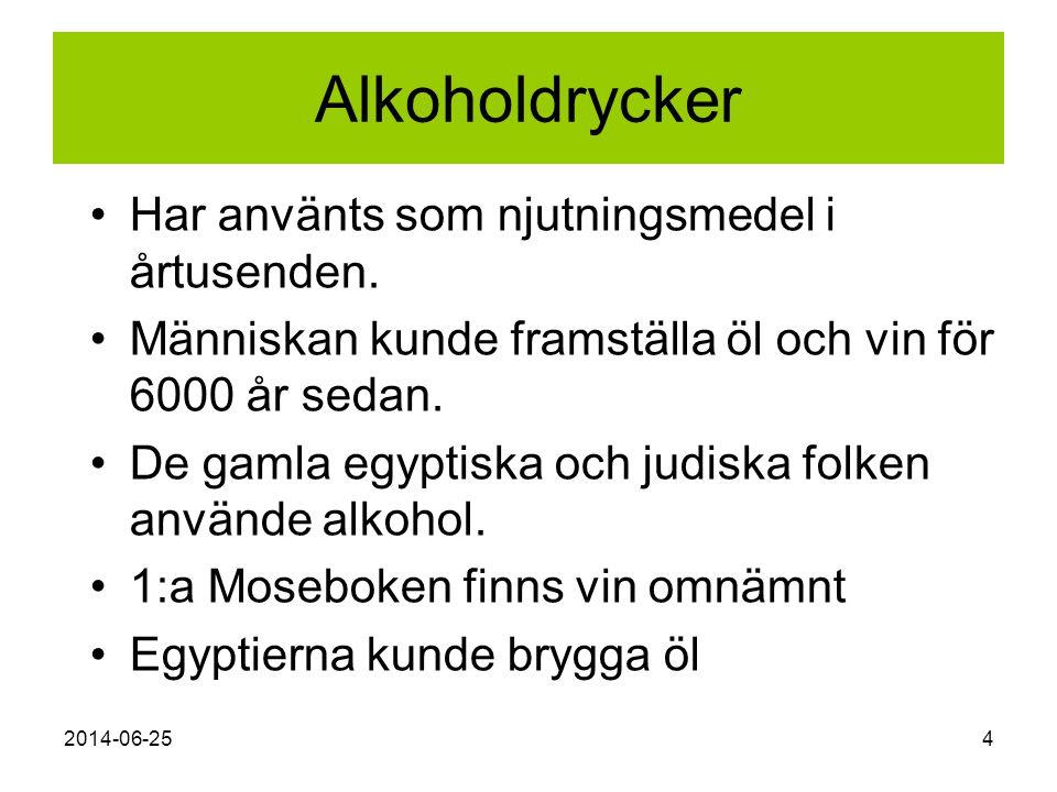 Alkoholdrycker Har använts som njutningsmedel i årtusenden.