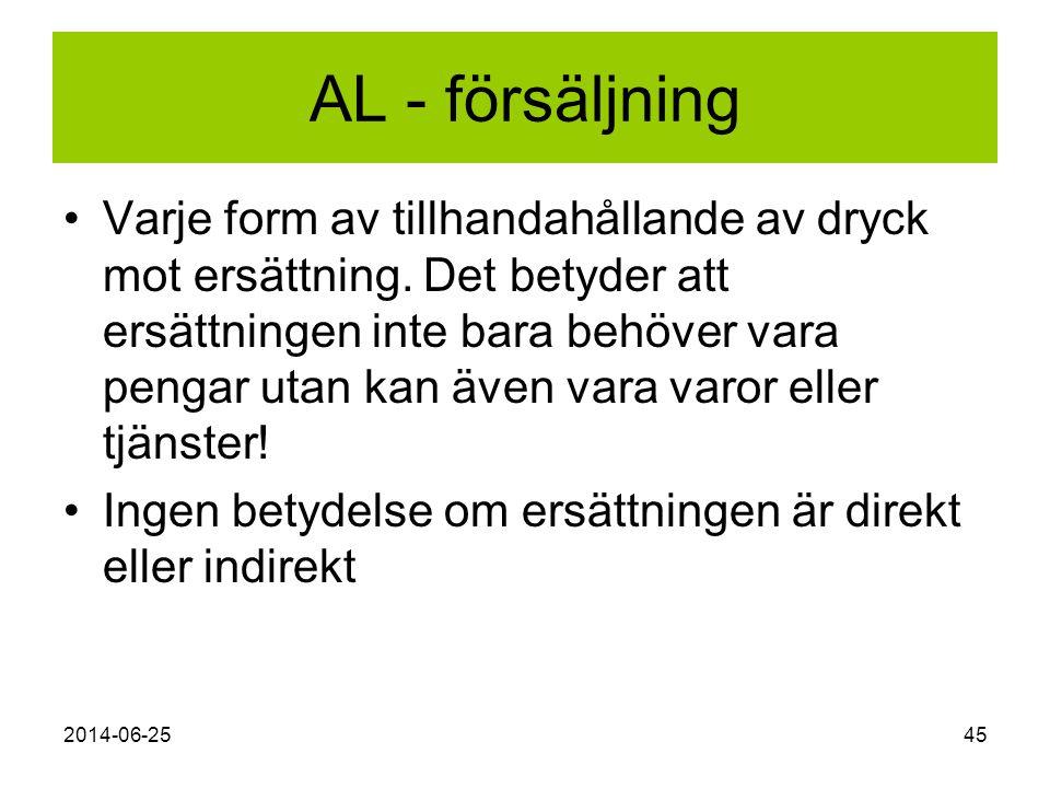 AL - försäljning
