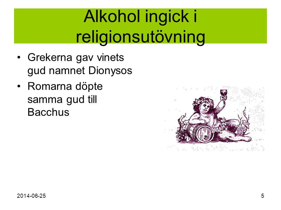 Alkohol ingick i religionsutövning