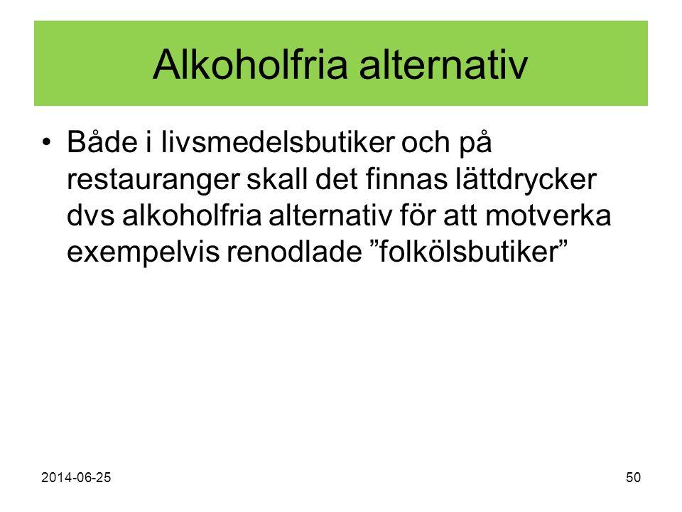 Alkoholfria alternativ