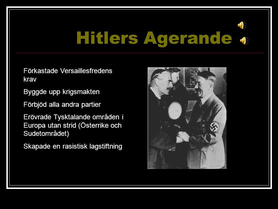 Hitlers Agerande Förkastade Versaillesfredens krav