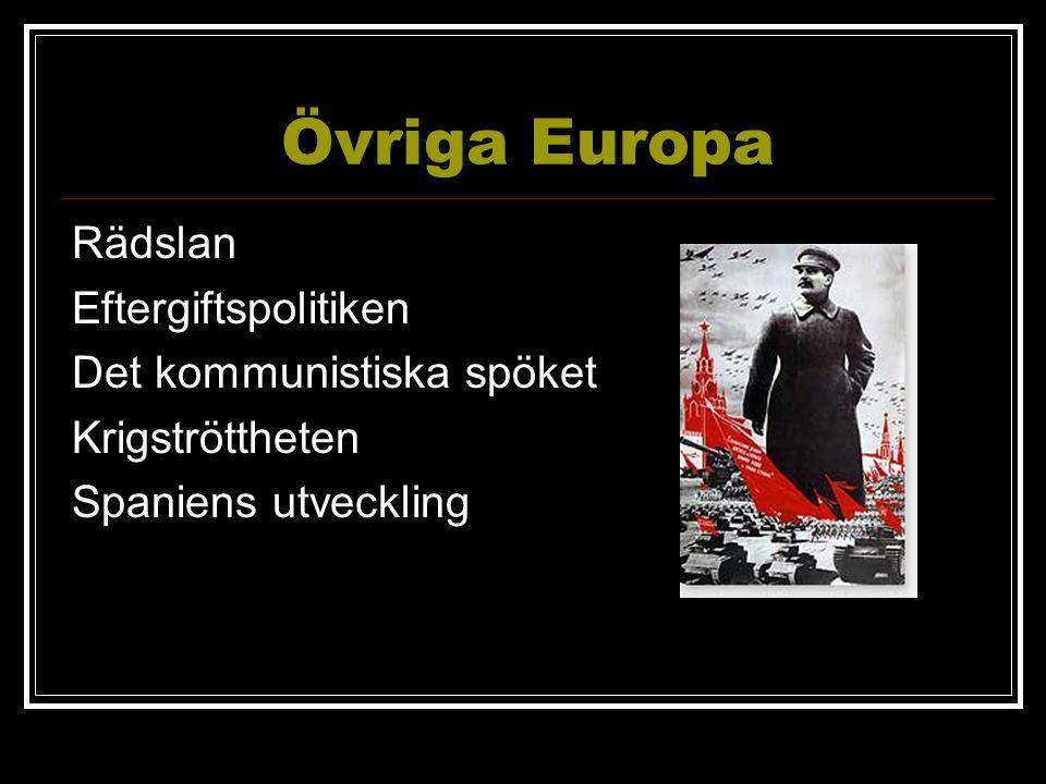Övriga Europa Rädslan Eftergiftspolitiken Det kommunistiska spöket