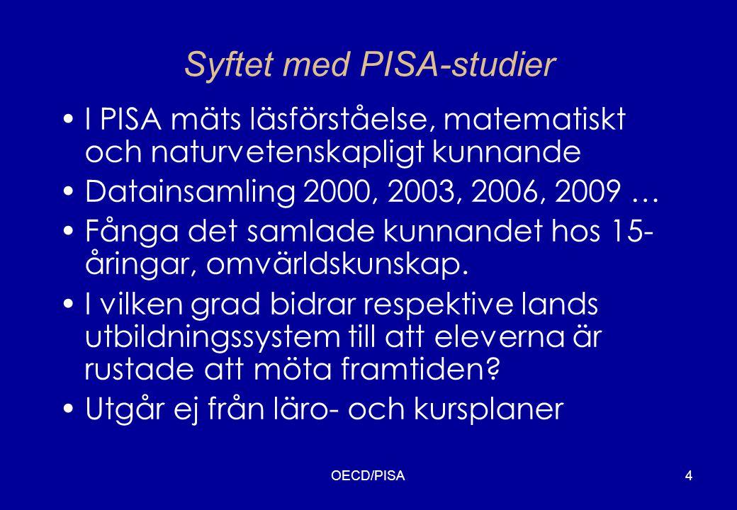 Syftet med PISA-studier