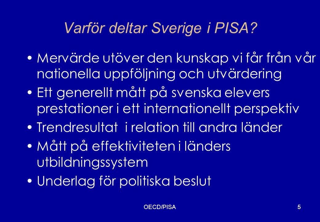 Varför deltar Sverige i PISA