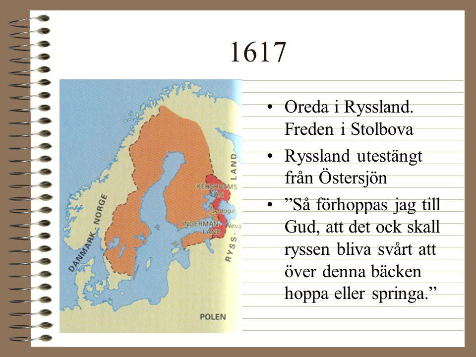 1617 Oreda i Ryssland. Freden i Stolbova