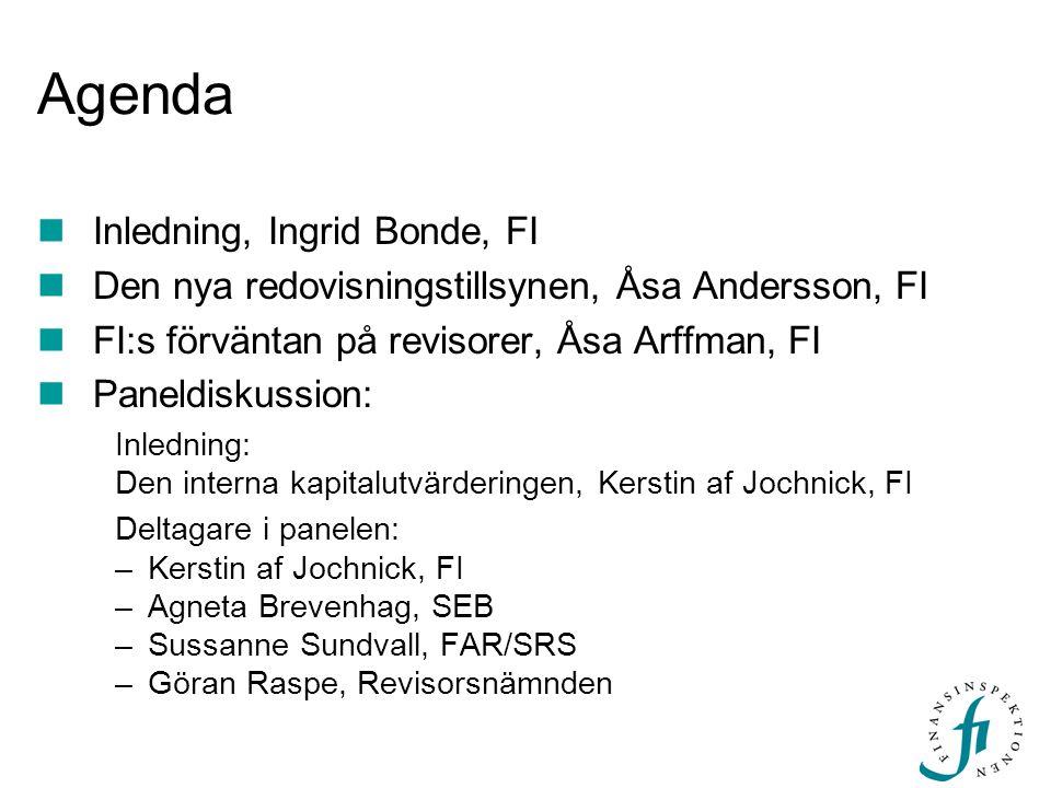 Agenda Inledning, Ingrid Bonde, FI