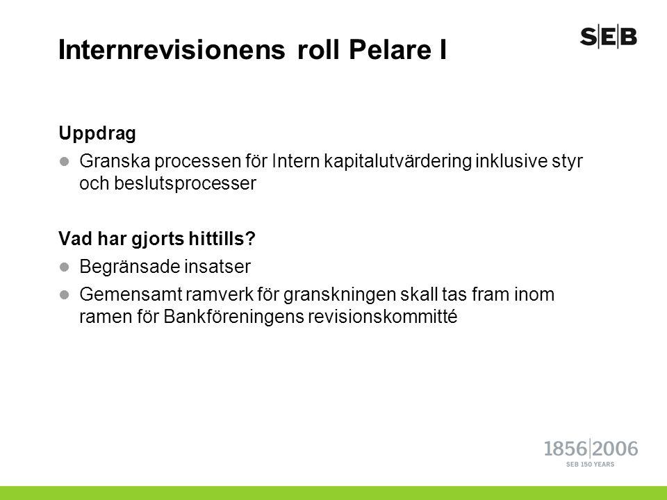 Internrevisionens roll Pelare I