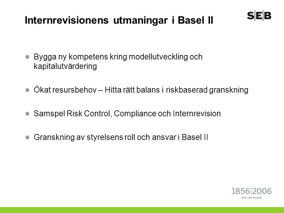 Internrevisionens utmaningar i Basel II