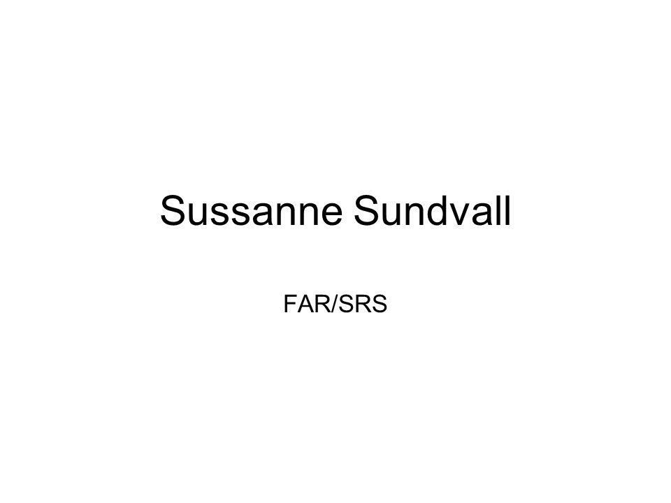 Sussanne Sundvall FAR/SRS