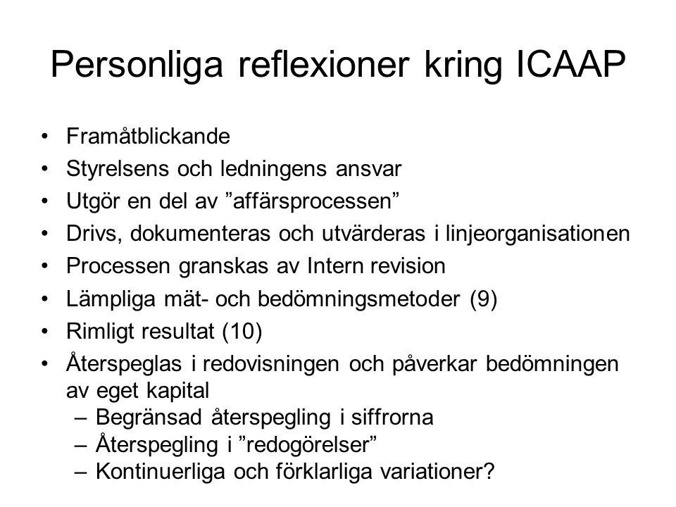 Personliga reflexioner kring ICAAP