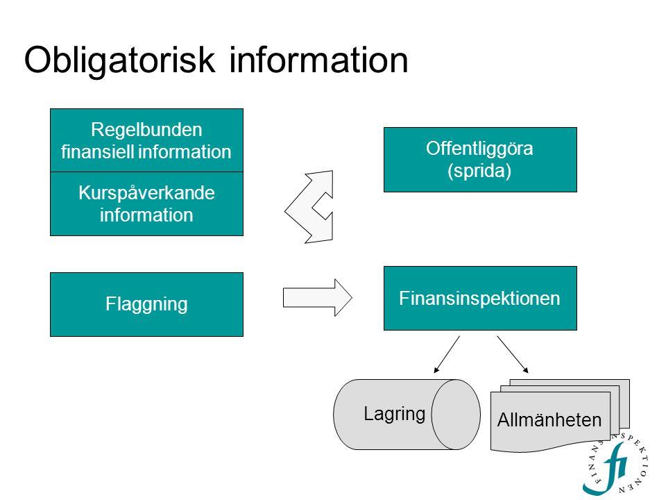 Obligatorisk information