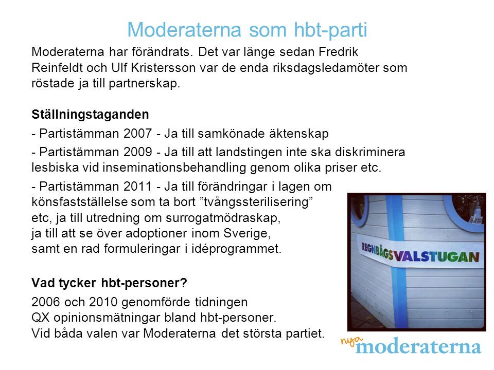 Moderaterna som hbt-parti
