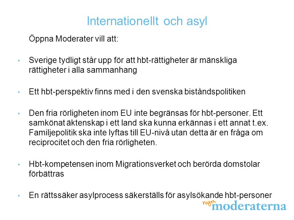 Internationellt och asyl