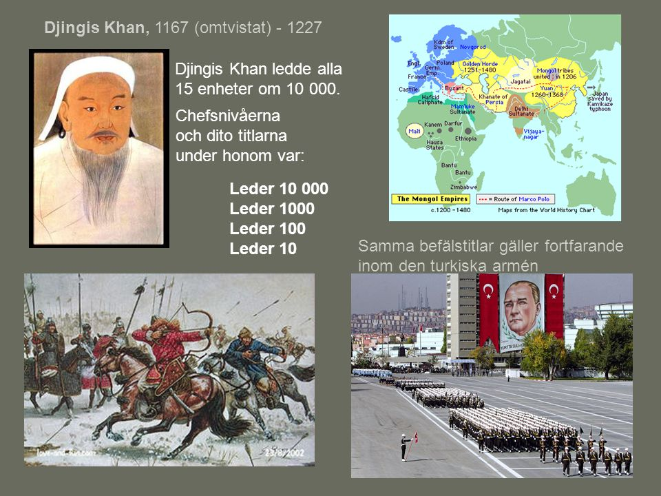 Djingis Khan, 1167 (omtvistat) - 1227
