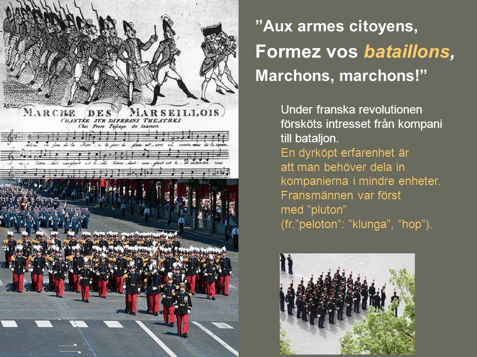 Formez vos bataillons, Aux armes citoyens, Marchons, marchons!