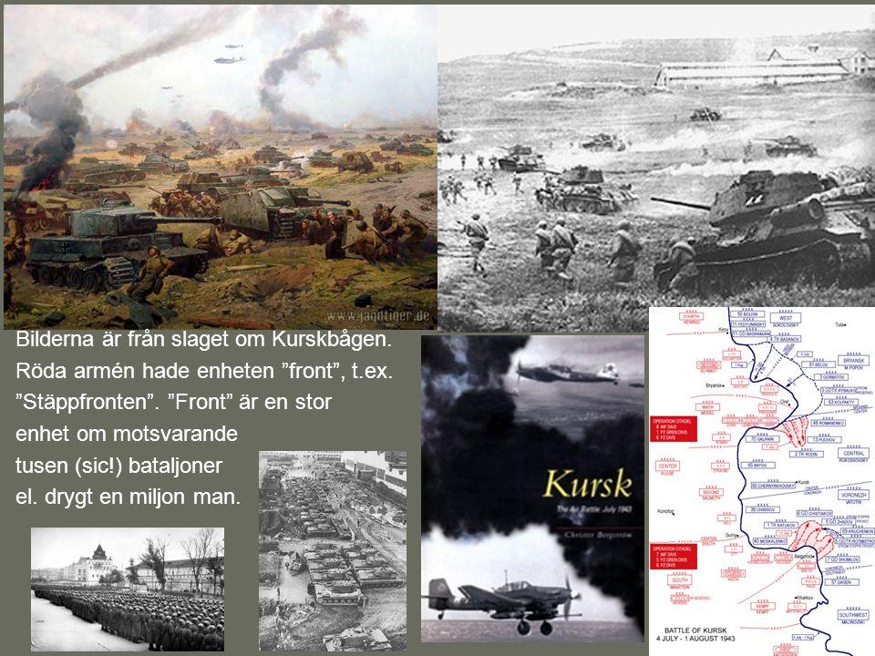 Bilderna är från slaget om Kurskbågen.