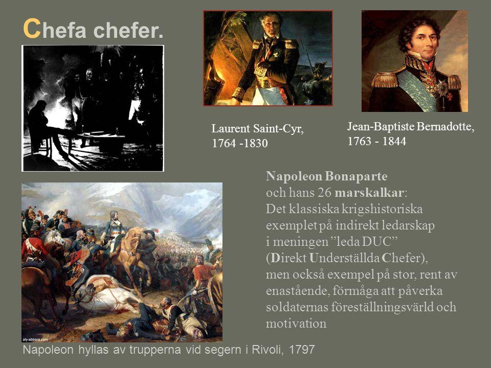 Chefa chefer. Napoleon Bonaparte och hans 26 marskalkar: