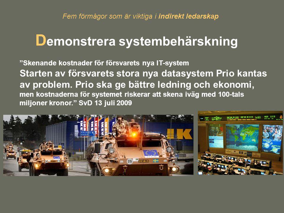 Demonstrera systembehärskning