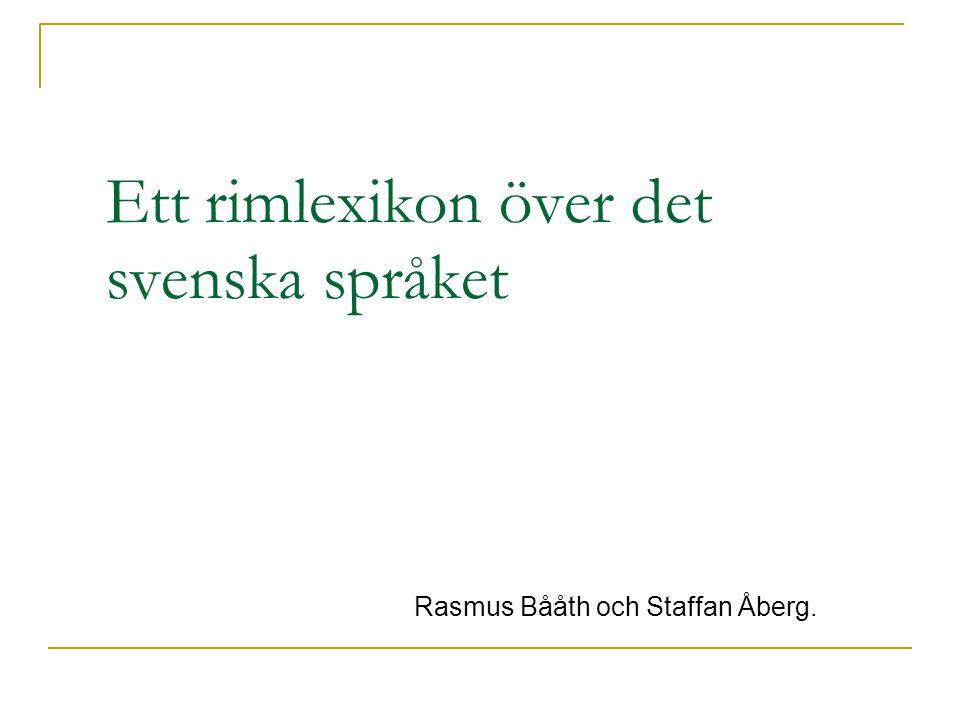 Ett rimlexikon över det svenska språket