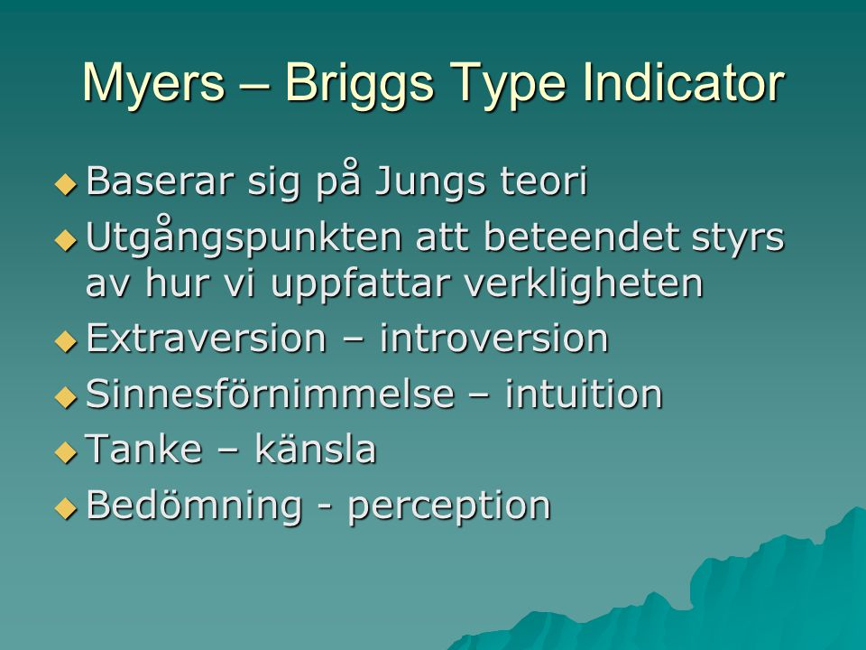 Myers – Briggs Type Indicator