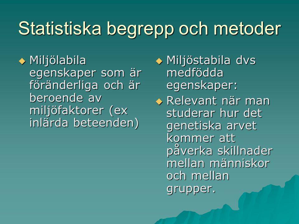 Statistiska begrepp och metoder