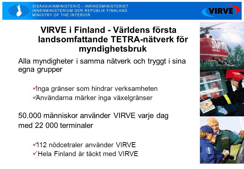VIRVE i Finland - Världens första landsomfattande TETRA-nätverk för myndighetsbruk