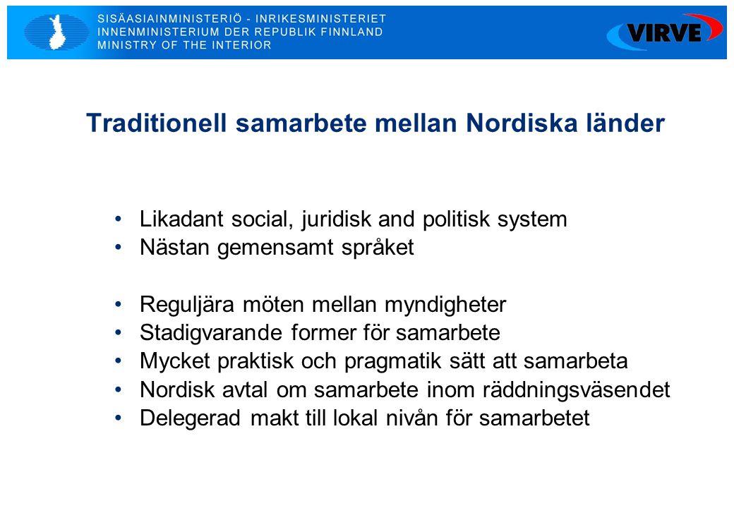 Traditionell samarbete mellan Nordiska länder