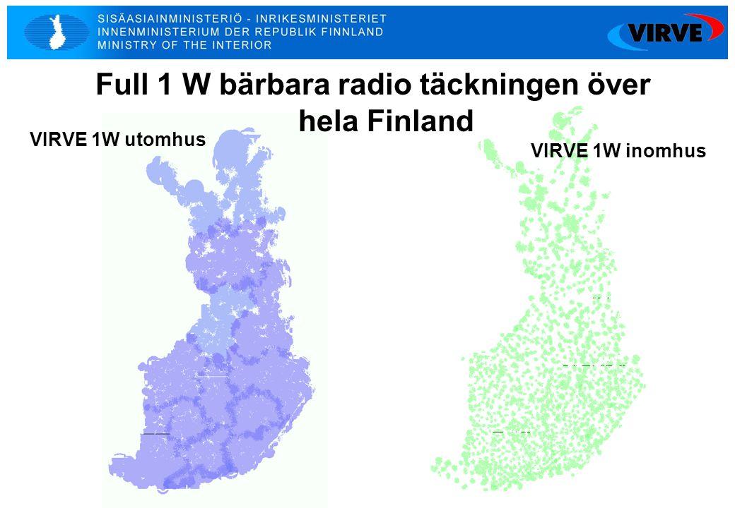 Full 1 W bärbara radio täckningen över hela Finland