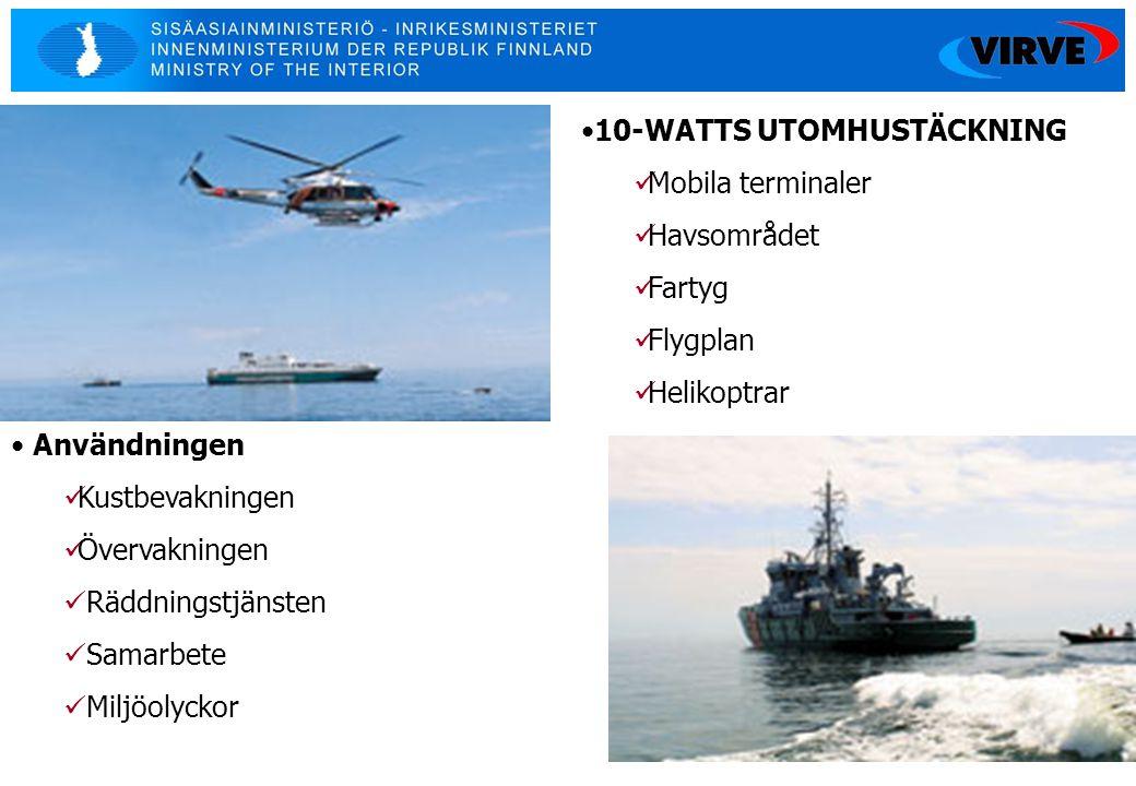 10-WATTS UTOMHUSTÄCKNING Mobila terminaler Havsområdet Fartyg Flygplan