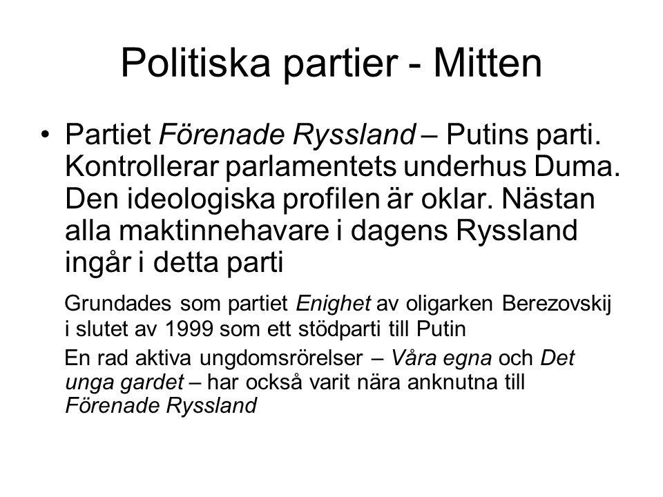 Politiska partier - Mitten