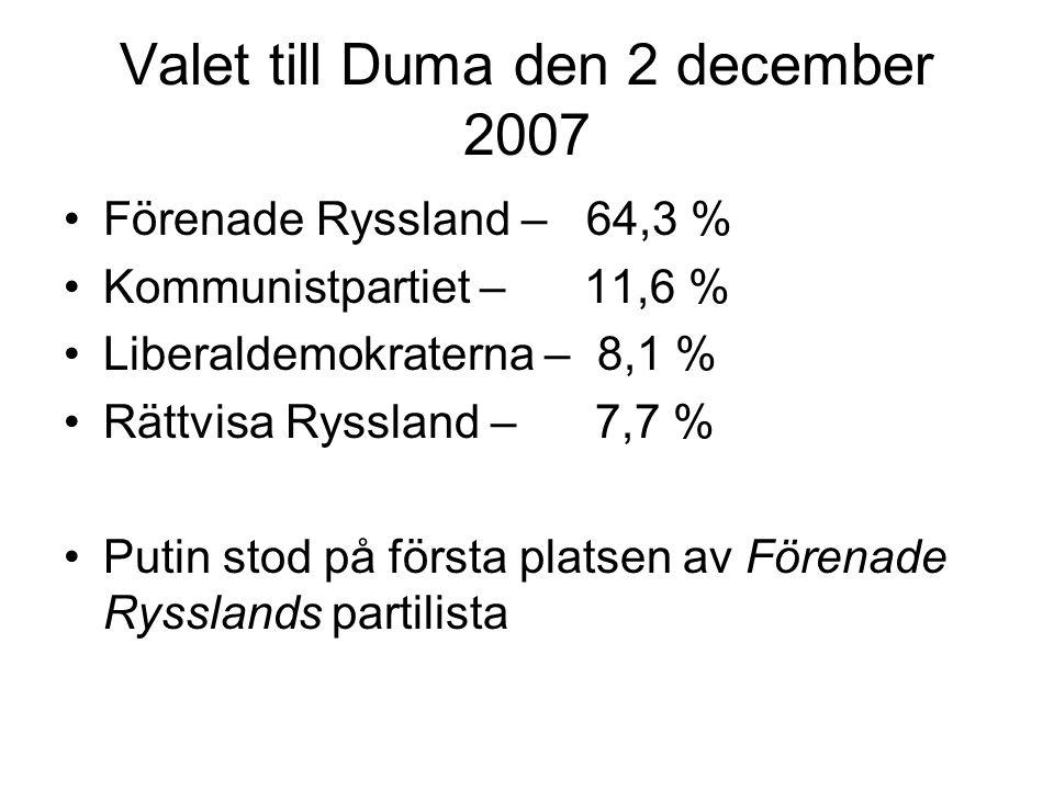 Valet till Duma den 2 december 2007